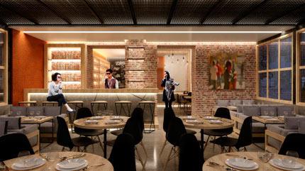 Интерьер ресторана 1